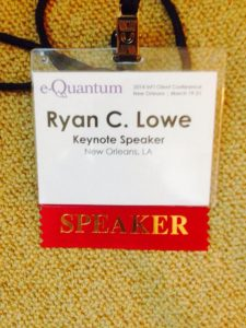 Ryan Lowe | Motivational Keynote Speaker | e_quantum | New Orleans Louisiana